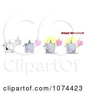 Clipart Happy Birthday Elephants Royalty Free Vector Illustration