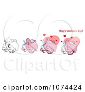 Cupid Valentines Day Elephants