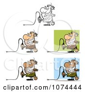 Clipart Boss Holding A Whip Royalty Free Vector Illustration