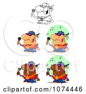 Clipart Rappers Royalty Free Vector Illustration by Hit Toon
