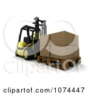 Clipart 3d Pallet And Boxes On A Forklift Royalty Free CGI Illustration by KJ Pargeter