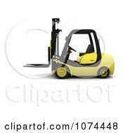 Clipart 3d Forklift Royalty Free CGI Illustration