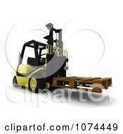 Clipart 3d Pallet On A Forklift Royalty Free CGI Illustration