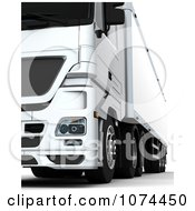Clipart 3d Low Front View Of A Big Rig Royalty Free CGI Illustration