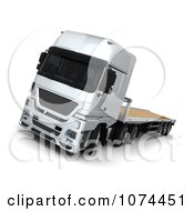Clipart 3d Flatbed Lorry Truck 1 Royalty Free CGI Illustration