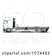 Clipart 3d Flatbed Lorry Truck 2 Royalty Free CGI Illustration