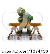Poster, Art Print Of 3d Tortoise Using A Circular Saw