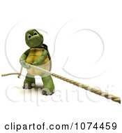 Clipart 3d Tortoise Pulling A Rope Royalty Free CGI Illustration by KJ Pargeter