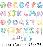Clipart Colorful Polka Dot Patterned Capital Letters - Royalty Free Vector Illustration by yayayoyo