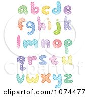 Clipart Colorful Polka Dot Patterned Lowercase Letters Royalty Free Vector Illustration