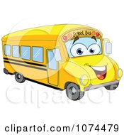 Clipart Friendly School Bus Royalty Free Vector Illustration