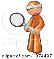 Clipart Orange Man Tennis Player Royalty Free Illustration