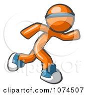 Clipart Orange Man Runner Royalty Free Vector Illustration by Leo Blanchette #COLLC1074507-0020