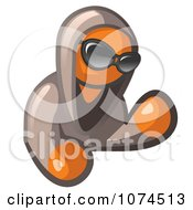 Clipart Hooded Orange Man Wearing Shades Royalty Free Illustration by Leo Blanchette