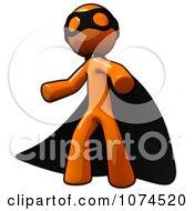 Clipart Orange Man Super Hero In A Black Cape Royalty Free Illustration