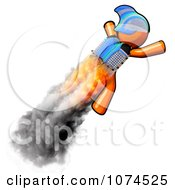 Clipart Orange Man Rocketeer With A Jetpack 1 Royalty Free Illustration