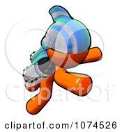Clipart Orange Man Rocketeer With A Jetpack 2 Royalty Free Illustration