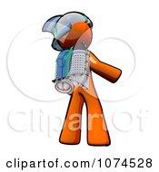 Clipart Orange Man Rocketeer With A Jetpack 3 Royalty Free Illustration