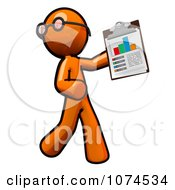 Orange Man Holding A Chart On A Clipboard 1