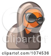 Clipart Hooded Orange Man Wearing Sunglasses Royalty Free Illustration by Leo Blanchette