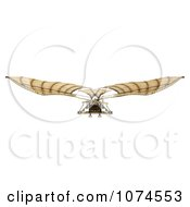 Clipart 3d Ornithopter Da Vinci Flier 4 Royalty Free CGI Illustration