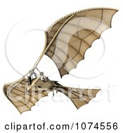 Clipart 3d Ornithopter Da Vinci Flier 7 Royalty Free CGI Illustration by Leo Blanchette