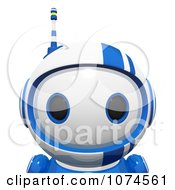 Clipart Cute 3d Blueberry Robot Royalty Free CGI Illustration by Leo Blanchette