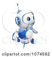 Clipart Cute 3d Blueberry Robot Gazing Royalty Free CGI Illustration by Leo Blanchette