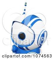 Cute 3d Blueberry Robot Looking Left