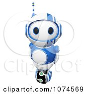 Clipart Cute 3d Blueberry Bot Royalty Free CGI Illustration