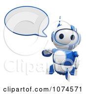 Cute 3d Blueberry Robot Talking