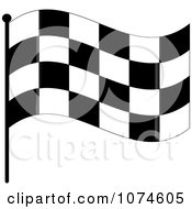 Clipart Waving Checkered Race Flag 1 Royalty Free Vector Illustration