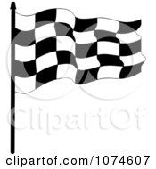 Clipart Waving Checkered Race Flag 2 Royalty Free Vector Illustration