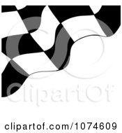 Clipart Checkered Racing Flag On White Royalty Free Vector Illustration