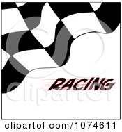Clipart Checkered Racing Flag On White With Text Royalty Free Vector Illustration