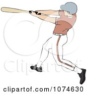 Clipart Baseball Batter Caucasian Man Royalty Free Vector Illustration by Pams Clipart