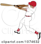 Clipart Baseball Batter Hispanic Man In A Red Helmet Royalty Free Vector Illustration by Pams Clipart