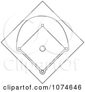 Clipart Outlined Baseball Diamond Field Royalty Free Vector Illustration by Pams Clipart