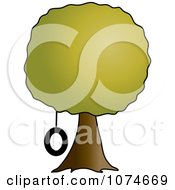Clipart Tire Swing Hanging From A Tree Royalty Free Vector Illustration by Pams Clipart