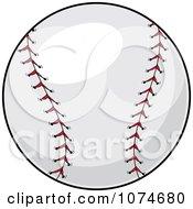 Red Stitched Baseball