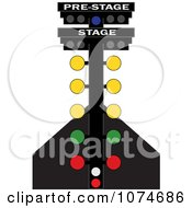 Clipart Racing Lights On A Track Royalty Free Vector Illustration
