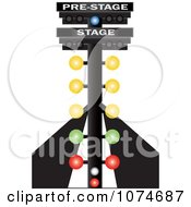 Clipart Auto Racing Lights On A Track Royalty Free Vector Illustration