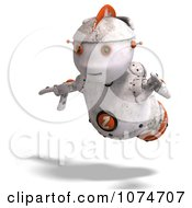 Clipart 3d Distressed White Robot Flying 2 Royalty Free CGI Illustration by Ralf61