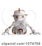 Clipart 3d Distressed White Robot Doing Pushups Royalty Free CGI Illustration by Ralf61