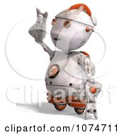 Clipart 3d Distressed White Robot Shielding His Eyes 2 Royalty Free CGI Illustration