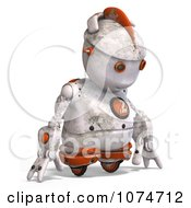 Clipart 3d Sad Distressed White Robot Royalty Free CGI Illustration by Ralf61