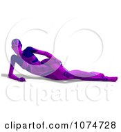 Clipart 3d Purple Cyborg Woman Reclined Royalty Free CGI Illustration