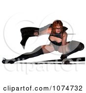 3d Warrior Princess Fighting With A Sword 3