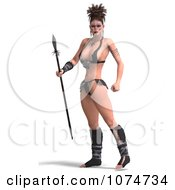 3d Warrior Princess With A Spear 1
