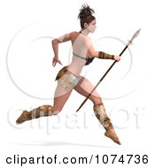 3d Warrior Princess With A Spear 3